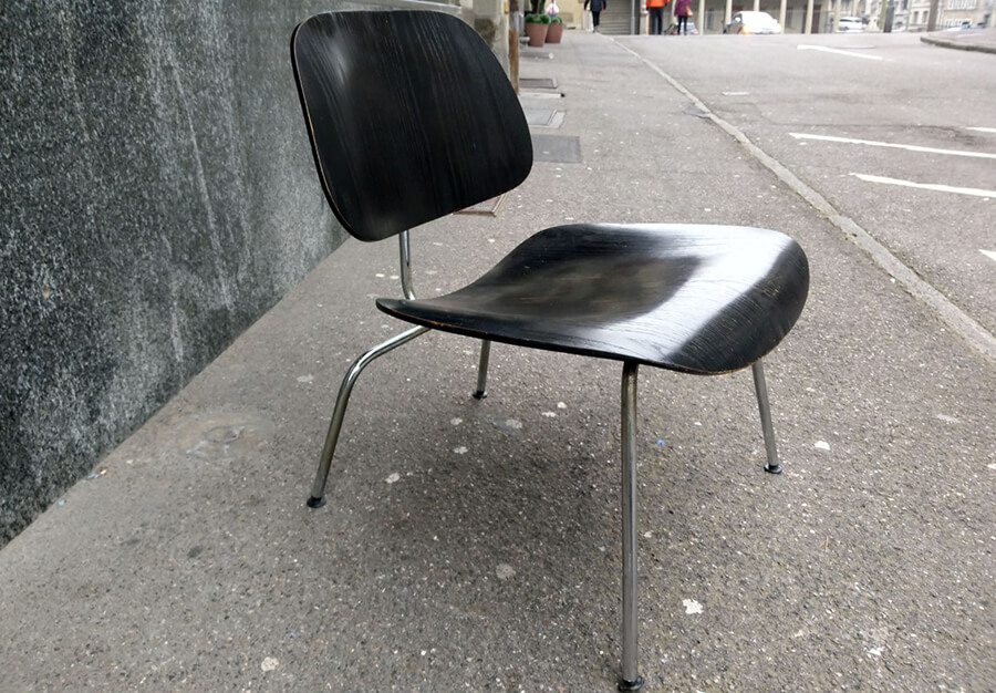 Lounge chair metal - Eames